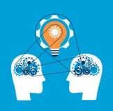 Las mentes trabajan juntas para una gran idea del negocio stock de ilustración