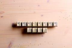 Las metas para las llaves 2018 de teclado del oncomputer del Año Nuevo abotonan en un wo Imagen de archivo libre de regalías