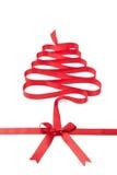 Las miradas espirales de la cinta como árbol de navidad Fotos de archivo libres de regalías