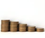 Las monedas conmemorativas de la Federación Rusa diez-representaron la recesión gráficamente Imagenes de archivo