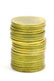Las monedas de oro Fotografía de archivo