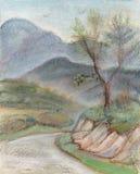 Pino en montañas stock de ilustración
