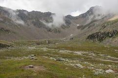 Las montañas ajardinan en el macizo de Monte Rosa cerca de Punta Indren Alag foto de archivo libre de regalías