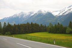 Las montañas caucásicas Fotografía de archivo libre de regalías