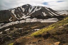 Las montañas coloridas de Landmannalaugar ajardinan, opinión de Brennisteinsalda, Islandia Fotografía de archivo
