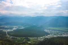 Las montañas de Altai en el verano Fotos de archivo