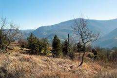 Las montañas de Apennines, Italia Foto de archivo libre de regalías
