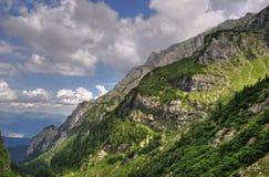 Las montañas de Bucegi, Rumania, HDR Foto de archivo libre de regalías