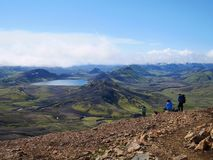Las montañas de Islandia emigran imagen de archivo libre de regalías