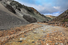 Las montañas de la ceniza volcánica Fotos de archivo