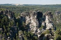 Las montañas de la piedra arenisca de Elbe foto de archivo libre de regalías