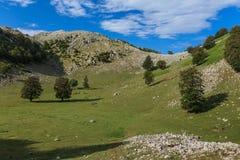 Las montañas de Mehedinti, Rumania Foto de archivo libre de regalías