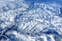 Las montañas de Siberia foto de archivo