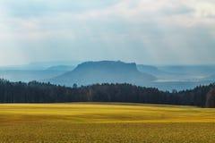 las montañas de Suiza sajona Foto de archivo libre de regalías
