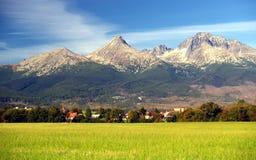 Las montañas de Tatra en verano imagen de archivo libre de regalías
