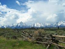 Las montañas de Teton cerca de Jackson Hole Wyoming Foto de archivo