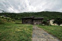 Las montañas de Toscana, paraíso son siguientes Fotografía de archivo