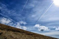 Las montañas de Toscana, paraíso son V siguientes Imagenes de archivo