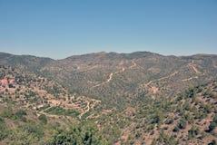 Las montañas de Troodos Imagen de archivo