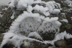 Las montañas de Ural, paisaje del invierno Foto de archivo libre de regalías