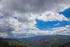 Las montañas del Apennines central Fotografía de archivo libre de regalías