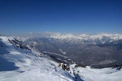 Las montañas en Krasnaya polivinílico Foto de archivo libre de regalías