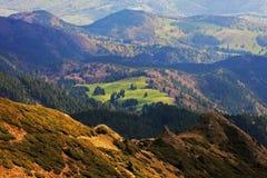Las montañas hermosas de Ciucas en Rumania Imagen de archivo libre de regalías