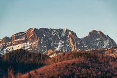 Las montañas inspiradoras ajardinan en el verano Tatras, montaña de Giewont, Polonia fotografía de archivo libre de regalías