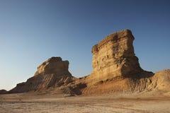 Las montañas a lo largo del Golfo Pérsico en Irán Foto de archivo libre de regalías