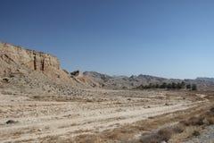 Las montañas a lo largo del Golfo Pérsico en Irán Imágenes de archivo libres de regalías