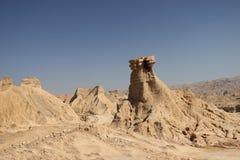 Las montañas a lo largo del Golfo Pérsico en Irán Foto de archivo