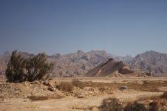 Las montañas a lo largo del Golfo Pérsico en Irán Imagen de archivo