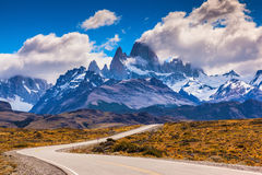Las montañas majestuosas de Fitzroy Imagenes de archivo