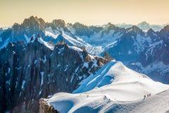 Las montañas sobre Chamonix Imagen de archivo libre de regalías