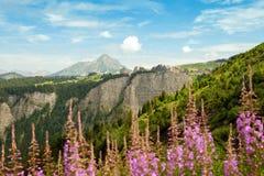 Las montañas europeas Imágenes de archivo libres de regalías