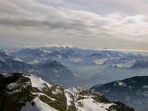 Las montan@as de Suiza Foto de archivo