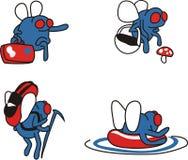 Las moscas van a tener un resto Imagen de archivo libre de regalías