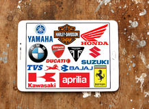 Las motocicletas fabrican logotipos y marcas Foto de archivo libre de regalías