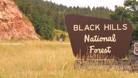 Las motocicletas inscriben al nacional Forest South Dakota Sturgis Rally de Black Hills metrajes