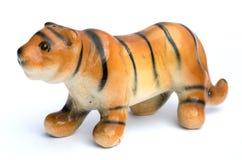 Las muñecas de la arcilla del tigre para la decoración Imagenes de archivo