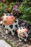 Las muñecas de la arcilla para adornan el jardín y la casa Fotografía de archivo libre de regalías