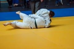 Las muchachas compiten en judo Fotos de archivo libres de regalías