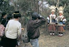 Hmong en el sudoeste China Foto de archivo libre de regalías