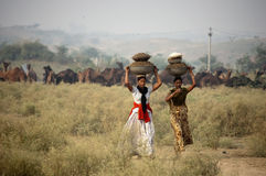 Las muchachas de Rajasthani Fotografía de archivo