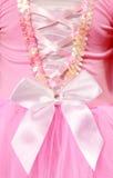 Las muchachas rosadas bailan el equipo Imágenes de archivo libres de regalías