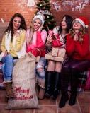 Las muchachas se están divirtiendo Imagen de archivo