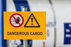 Las muestras advierten de seguridad en el empleo Imagen de archivo libre de regalías