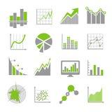 Las muestras del análisis de datos y los analytics financieros del negocio vector iconos libre illustration