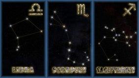 Las muestras del otoño del zodiaco Ilustración del Vector