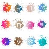 las muestras del zodiaco Sistema de isons coloridos Foto de archivo